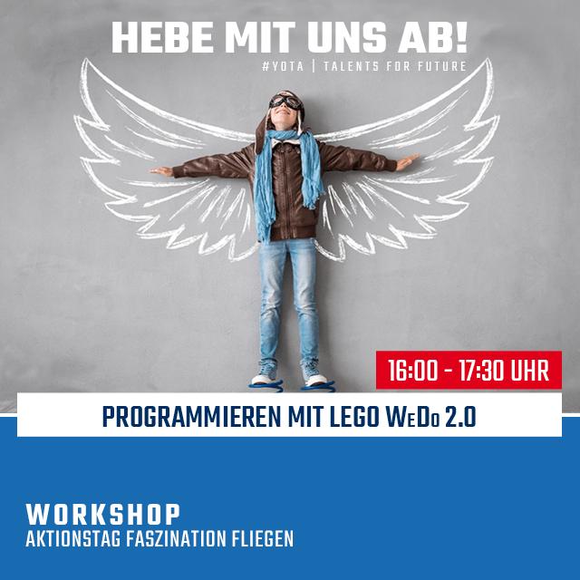 Faszination Fliegen: LEGO WeDo 2.0 | 21.02.2020 | 16:00 Uhr
