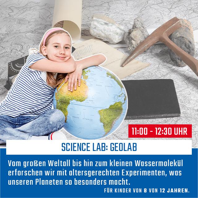 Science Lab: Geolab | 08. Februar 2020 | 11 - 12:30 Uhr