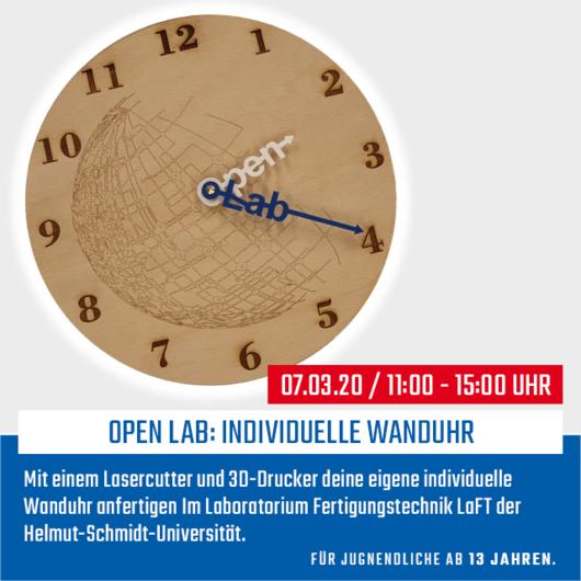 Open Lab: Individuelle Wanduhr | 07.03.20 | 11:00 - 15:00 Uhr