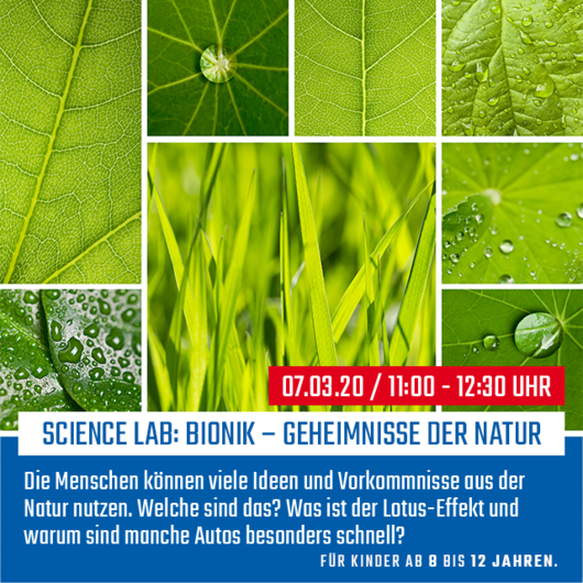 Science Lab: Bionik – Geheimnisse der Natur | 07.03.20 | 11:00 - 12:30 Uhr