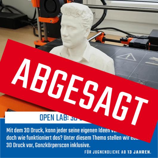 Open Lab: Scan & 3D Print | 21.03.20 | 11:00 - 15:00 Uhr