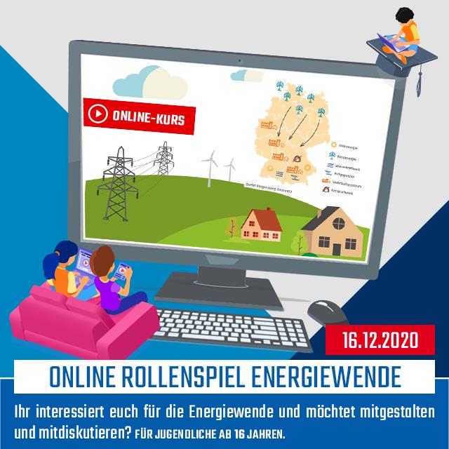Online-Kurs [LIVE]: Online Rollenspiel Energiewende | 16.12.2020 | 17:00 - 20:00 Uhr