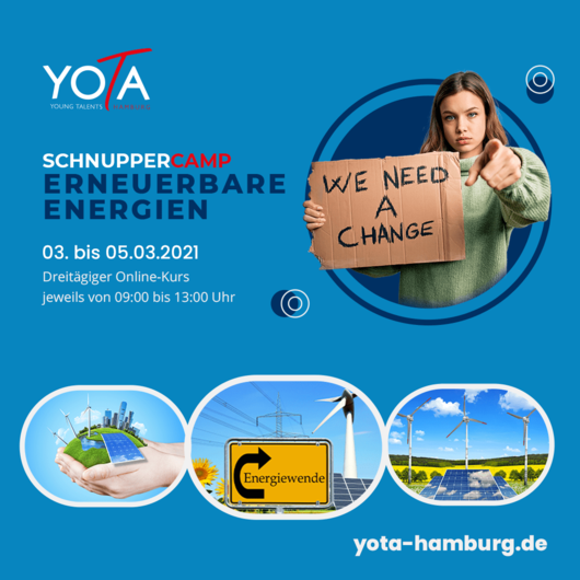 Online-Kurs [LIVE]: Erneuerbare Energien   03.03. - 05.03.2021