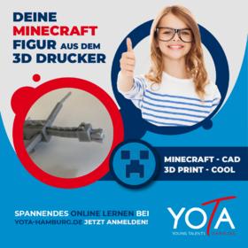 Deine Minecraft-Figur aus dem 3D-Drucker