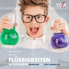 Flüssigkeiten im Testlabor