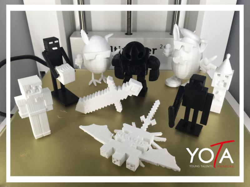 Minecraft-Figur aus dem 3D-Drucker
