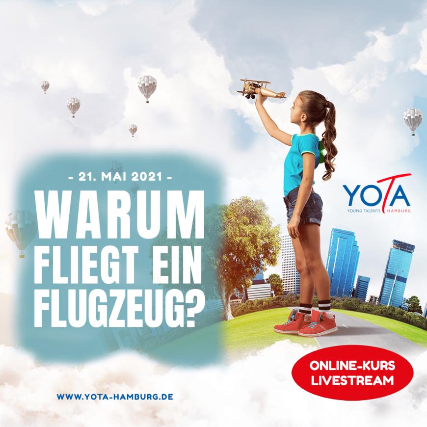 Online-Kurs [LIVE]: Warum fliegt ein Flugzeug? | 21. Mai 2021 | 17:00 - 18:00 Uhr