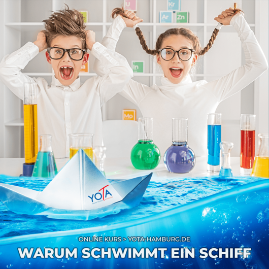 Online-Kurs [LIVE]: Warum schwimmt ein Schiff?   28. Mai 2021   17:00 - 18:00 Uhr