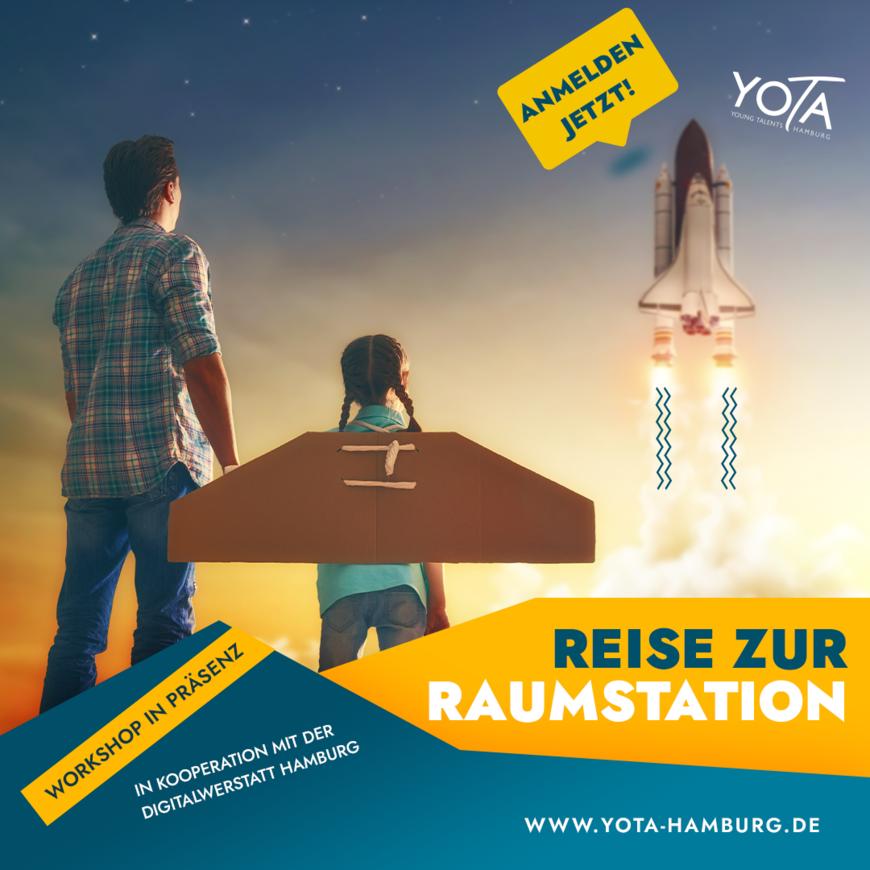 Workshop: Reise zur Raumstation   31.07.2021    10:00 - 13:00 Uhr
