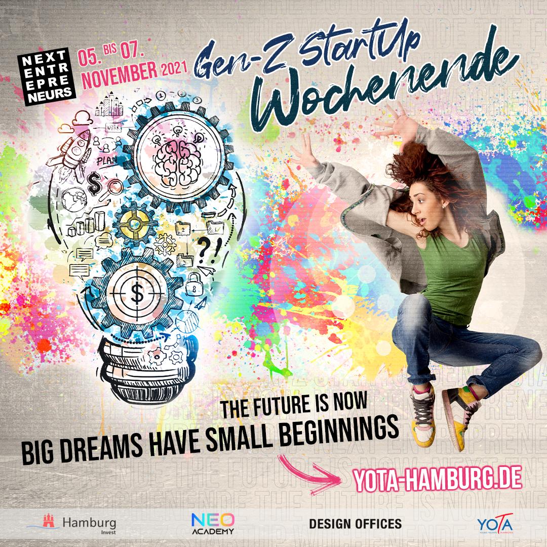 Zukunft der Arbeit: Gen-Z Startup Wochenende   05. bis 07.11.2021